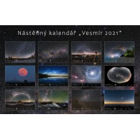 Astronomické fotografie Vesmír Kalendář 2021 Petr Horálekj